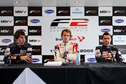Race 2 press conference: 1st Andy Soucek, 2nd Robert Wickens, 3rd Mikhail Aleshin