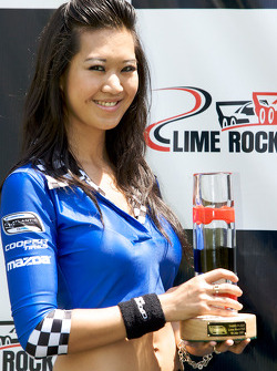 Podium: a charming Mazda Cooper Tires girl