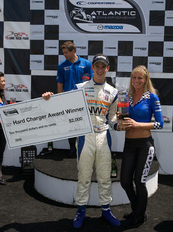 Podium: hard charger of the race award to John Edwards, Newman Wachs Racing