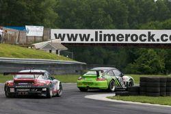 #08 Orbit Racing Porsche 911 GT3 Cup: Ed Brown, Bill Sweedler, #87 Farnbacher Loles Racing Porsche 9