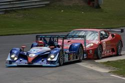 #19 van der Steur Racing Radical SR9 AER: Gunnar van der Steur, Adam Pecorari, #62 Risi Competizione Ferrari F430 GT: Jaime Melo, Pierre Kaffer