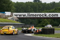 #12 Autocon Motorsports Lola B06/10 AER: Tony Burgess, Chris McMurry, #36 Gruppe Orange Porsche 911 GT3 Cup: Wesley Hoaglund, Bob Faieta