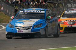Nicola Larini leads Tiago Monteiro