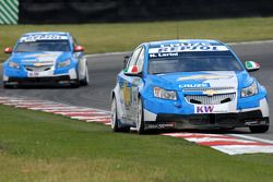 Nicola Larini leads Alain Menu