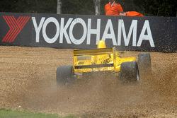 Pietro Gandolfi goes into the gravel