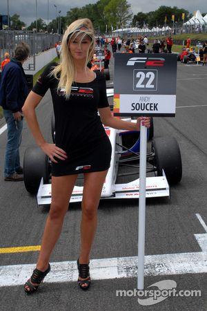Andy Soucek's grid girl