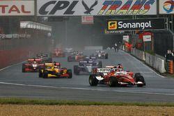 Pace lap; #22 AS Roma Azerti: Jonathan Kennard