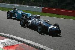 #44 Richard Parnell (GB) Walker Climax, 1960, 2500cc; #5 Richard Pilikington (GB) Talbot-Lago T25, 1950, 4500cc