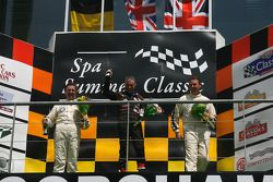 The front engine runners' podium: Hubert Fabri (2nd), Allan Miles (1st), and Steve Russel (3rd)