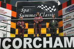 The rear engine runners' podium: Ian Ashley (2nd), John Harper (1st), and Sidney Hoole(3rd)
