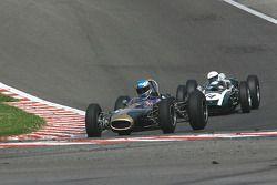 #64 Jon Fairley (GB) Brabham BT11, and #14 Mark Piercy (GB) Cooper T53