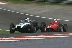 #47 Brian Jolliffe (GB) Cooper T45, and #22 Allan Miles (GB) Maserati 250F CM7