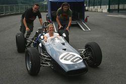 A brilliant drive for #100 Michael Grant Petrekin (GB) Brabham BT21 (right)