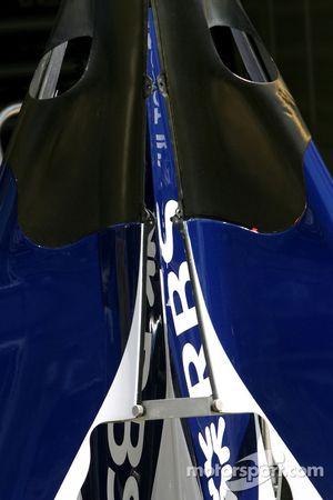 Detalle de cubierta de motor de Williams F1 Team