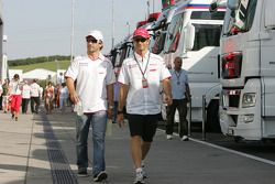 Timo Glock, Toyota F1 Team and Jarno Trulli, Toyota F1 Team