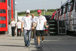 Timo Glock, Toyota F1 Team and Jarno Trulli, Toyota F1 Team