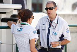 Bruno Michel, GP2 Series Organiser with Laurence Eckle, GP2 Series Organiser