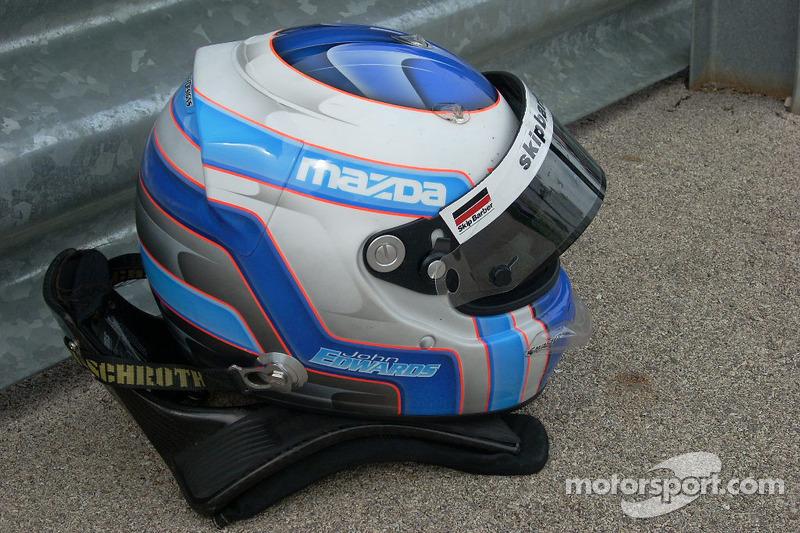 Helmet of John Edwards, Newman Wachs Racing