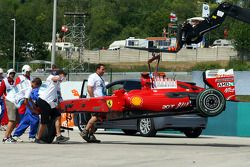 Ferrari von Felipe Massa nach Crash