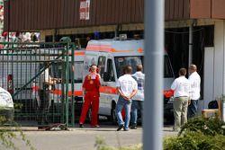 Felipe Massa est transporté au centre médical après son accident