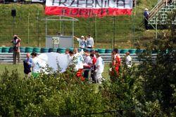 Felipe Massa est transporté à l'hôpital après son accident