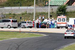 Felipe Massa, Scuderia Ferrari, victime d'un accident