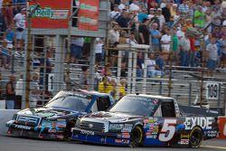 Mike Skinner races Colin Braun