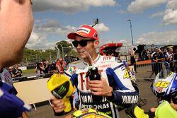 Ganador de la pole Valentino Rossi, Fiat Yamaha Team