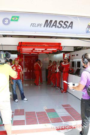 Garaje vacío de Felipe Massa, Scuderia Ferrari