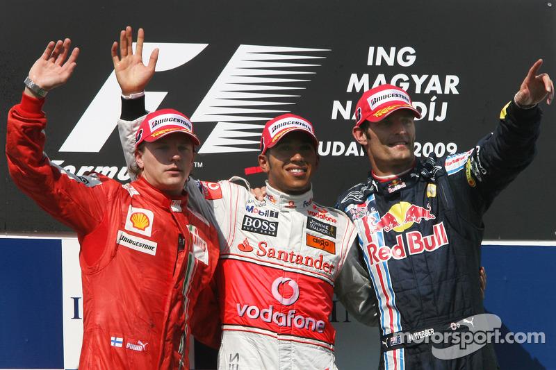 Lewis Hamilton, McLaren Mercedes, Kimi Raikkonen, Scuderia Ferrari, Mark Webber, Red Bull
