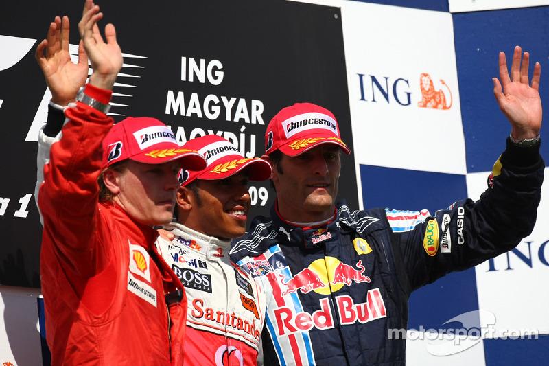 Podyum: Yarış galibi Lewis Hamilton, McLaren Mercedes, 2. Kimi Raikkonen, Scuderia Ferrari, 3. Mark