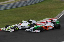 Rubens Barrichello, Brawn GP and Adrian Sutil, Force India F1 Team