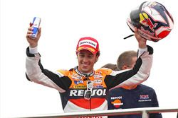 Podium: race winner Andrea Dovizioso, Repsol Honda Team