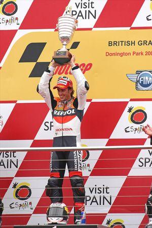 Podium: race winner Andrea Dovizioso, Repsol Honda Team
