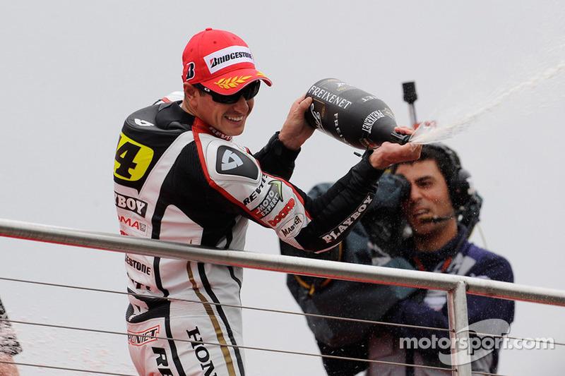 Podio: tercer lugar Randy De Puniet, LCR Honda MotoGP
