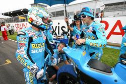Loris Capirossi, Rizla Suzuki MotoGP y Chris Vermeulen, Rizla Suzuki MotoGP
