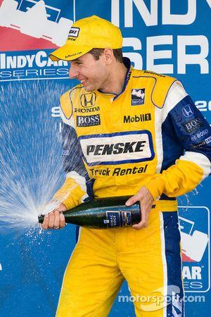 Podium: race winner Will Power, Team Penske celebrates