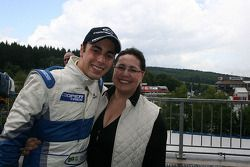 Gabriel Dias with his mother
