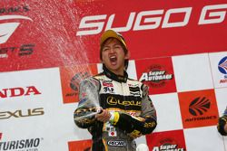 GT500 podium: second place Kohei Hirate