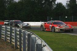 #120 Michael Cullen Rosso Corsa Ferrari F430 GT3: Michael Cullen, Patrick Shovlin, Mark Patterson, Peter Ludwig; #3 Selleslagh Racing Team Corvette Z06: Bert Longin, James Ruffier, Maxime Soulet, Oliver Gavin