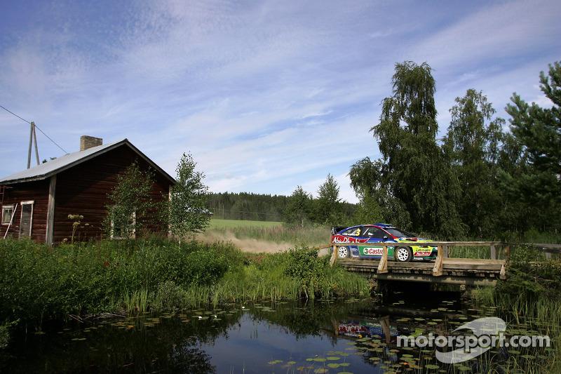 Mikko Hirvonen et Jarmo Lehtinen, BP Ford Abu Dhabi World Rally Team Ford Focus RS WRC08