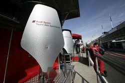 Audi Sport Team Abt Sportsline pit area