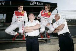 Mike Rockenfeller, Audi Sport Team Rosberg Audi A4 DTM and Markus Winkelhock, Audi Sport Team Rosber
