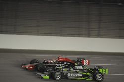Justin Wilson, Dale Coyne Racing runs with Ernesto Viso, HVM Racing