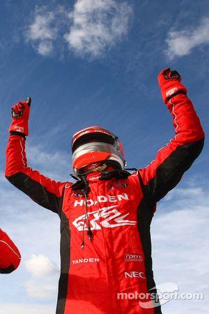 Garth Tander celebrates his win