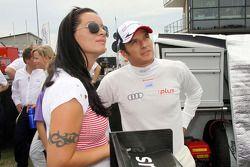 Timo Scheider, Audi Sport Team Abt Audi A4 DTM with Jasmin Rubatto, girlfriend of Timo Scheider