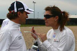 Markus Winkelhock, Audi Sport Team Rosberg, Audi A4 DTM and Katherine Legge, Audi Sport Team Abt Audi A4 DTM