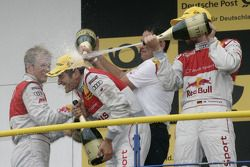 Podium: race winner Timo Scheider, Audi Sport Team Abt Audi A4 DTM gets a champagne shower
