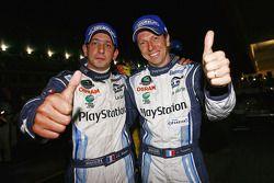 Race winners Jean-Christophe Boullion and Christophe Tinseau celebrate
