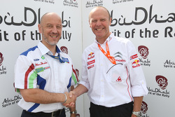 Gerard Quinn and Olivier Quesnel were both awarded the Abu Dhabi Spirit of the Rally award in Finlan